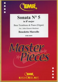Sonata in No 5 in Bb Major for Bass Trombone by Marcello published by EMR