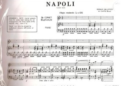Bellstedt: Napolli for Bb Cornet published by G & M