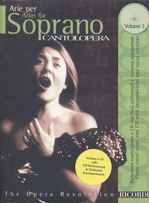 Cantolopera : Arias for Soprano 3 Book & CD published by Ricordi