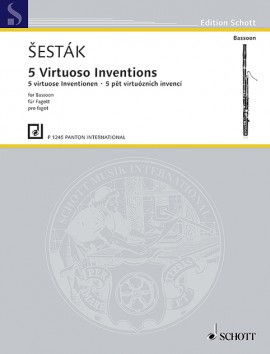 Sesták: Five Virtuoso Inventions for Bassoon published by Panton