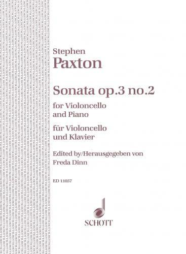 Paxton: Sonata Opus 3/2 for Cello published by Schott