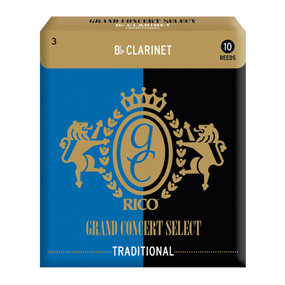 Rico Royal Grand Concert Select Traditional Bb Clarinet Reeds (Pack of 10)