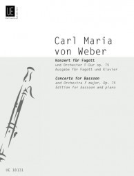 Weber: Concerto in F Opus 75 for Bassoon published by Universal