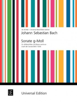 Bach: Sonata after the Sonata BWV1034  for Treble Recorder published by Universal
