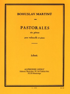 Martinu: 6 Pastorales for Cello published by Leduc