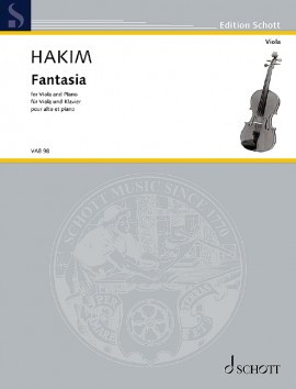 Hakim: Fantasia for Viola published by Schott