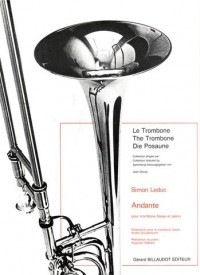 Leduc: Andante for Bass Trombone published by Billaudot