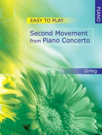 Grieg: Easy-to-play 2nd Movement from Piano Concerto for Piano published by Mayhew