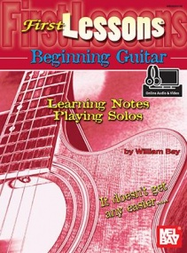 First Lessons for Beginning Guitar published by Mel Bay (Book/Online Audio)