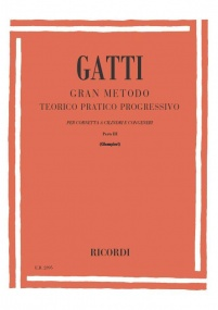 Gatti: Grand Method for Cornet and Trumpet Volume 3 published by Ricordi