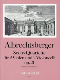 Albrechtsberger: 6 String Quartets Opus 21 published by Amadeus