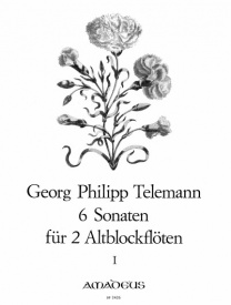 6 Sonatas Volume 1 for 2 Treble Recorders by Telemann published by Amadeus