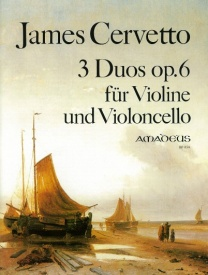 3 Duos Opus 6 for violin & cello by Cervetto published by Amadeus