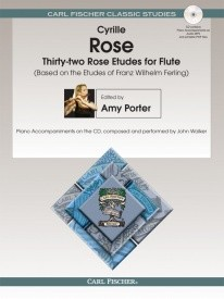 32 Rose Etudes for Flute Book & CD published by Fischer