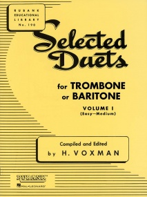 Selected Duets Volume 1 for Trombone or Baritone (Bass Clef) published by Rubank