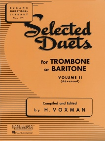 Selected Duets Volume 2 for Trombone or Baritone (Bass Clef) published by Rubank