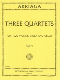 Arriaga: 3 String Quartets published by IMC