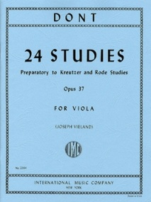 Dont: 24 Studies Opus 37 for Viola published by IMC