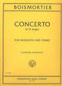 Boismortier: Concerto in D Major for Bassoon published by IMC