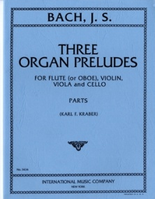 Bach: 3 Organ Preludes published by IMC