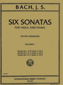Bach: 6 Sonatas for Viola and Piano Volume 1 BWV 1014-1016 published by IMC