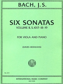 Bach: 6 Sonatas for Viola and Piano Volume 2 BWV 1017-1019 published by IMC