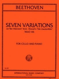 7 variations for Piano and Cello WoO 46 by Beethoven published by IMC