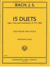 Bach: 15 Duets for Violin & Viola published by IMC