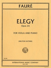 Faure: Elegy Opus 24 for Viola published by IMC