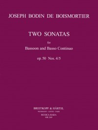 2 Sonatas (4 & 5) Opus 50 for Bassoon by Boismortier published by  Breitkopf & Hartel
