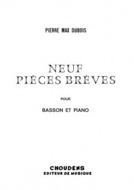 Dubois: Neuf Pièces Brèves for Bassoon published by Choudens