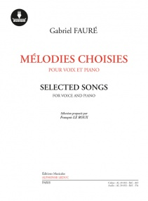 Faure: Selected Songs published by Leduc (Book/Download Card)