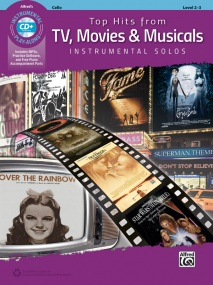 Top Hits from TV, Movies & Musicals Instrumental Solos published by Alfred - Cello