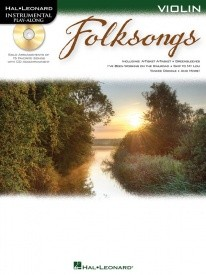 Folksongs - Violin published by Hal Leonard (Book & CD)