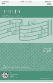 Gjeilo: Ubi Caritas TTBB published by Walton
