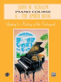 Schaum Piano Course Book G (Amber) published by Alfred