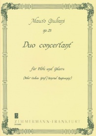 Duo concertant Opus 25 for Flute & Guitar by Giuliani published by Zimermann