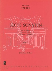 Tartini: 6 Sonatas Volume 1 for 2 Flutes & Basso Continuo published by Zimmermann