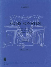 Tartini: 6 Sonatas Volume 2 for 2 Flutes & Basso Continuo published by Zimmermann