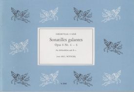 Chedeville: Sonatilles galantes Op.6 Nos.4-6 for Treble Recorder published by Noetzel