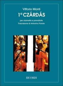 Monti: Czardas No. 1 for Clarinet & Piano published by Ricordi