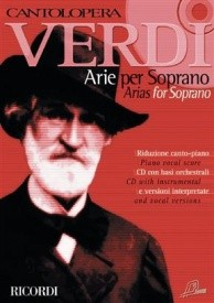 Cantolopera : Verdi - Arias for Soprano 1 Book & CD published by Ricordi