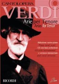 Cantolopera : Verdi - Arias for Tenor Book & CD published by Ricordi