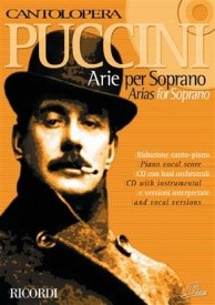 Cantolopera : Puccini - Arias for Soprano Book & CD published by Ricordi