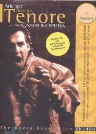 Cantolopera : Arias for Tenor 3 Book & CD published by Ricordi