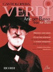 Cantolopera : Verdi - Arias for Bass Book & CD published by Ricordi