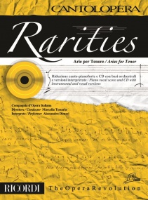 Cantolopera : Rarities - Arias for Tenor Book & CD  published by Ricordi