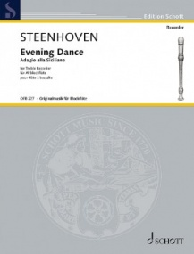Steenhoven: Evening Dance for Treble Recorder published by Schott