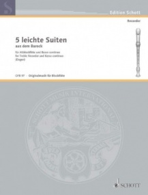 Degen: 5 Easy Baroque Suites for Treble Recorder published by Schott