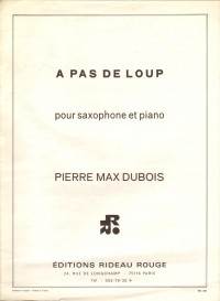 Dubois: A Pas de Loup for Alto Saxophone published by Durand